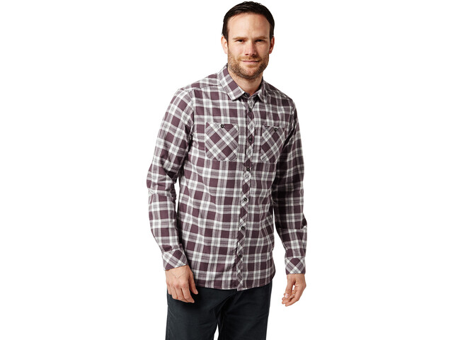 Craghoppers Andreas Longsleeve Shirt Herren Red Wine Combo Checkered
